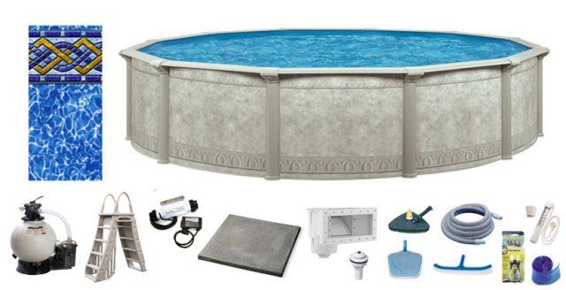 Roman Salt Pool Kit Above Ground Pros
